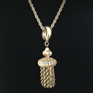 Vintage Tassled Goldtone Necklace